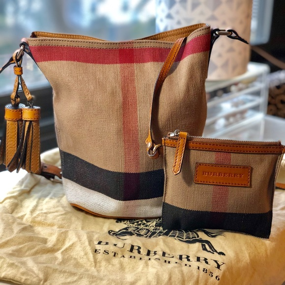 da586a53cbe Burberry Bags   The Small Ashby In Canvas Check Bag   Poshmark